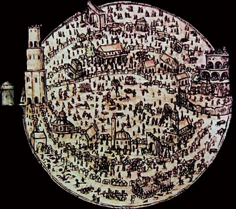 Illustration of the Labyrinth of the World